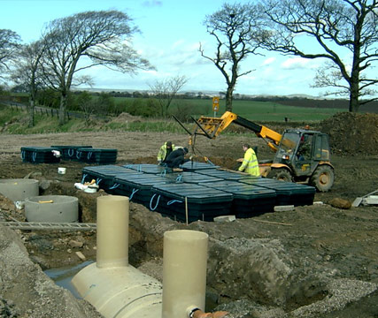 Waste wate sewage collection and treatment systems for Waste drainage system